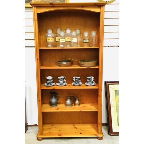 11 - Pine Bookcase 96cm Wide x184cm...