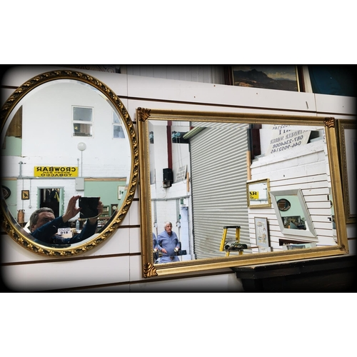 18 - 2 Gilt Framed Modern Mirrors...