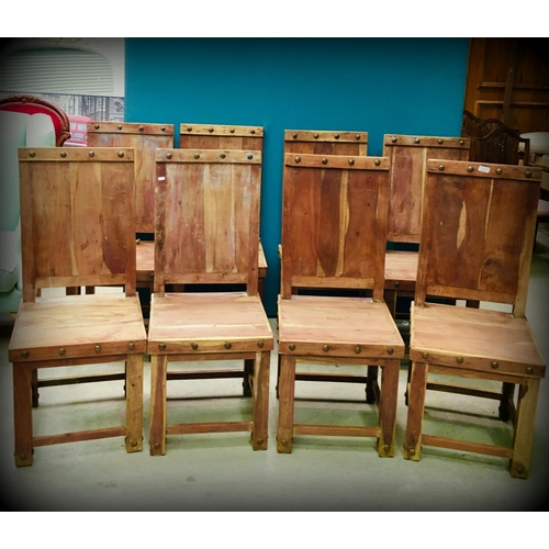 31 - 8 Solid Backed Kitchen Chairs...
