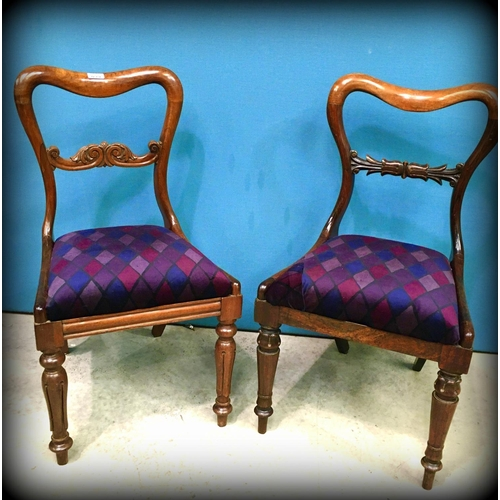 39 - PR of Victorian Mah Dining Chairs...