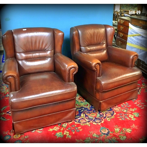 49 - Pair of Leather Armchairs - Excellent Condition...