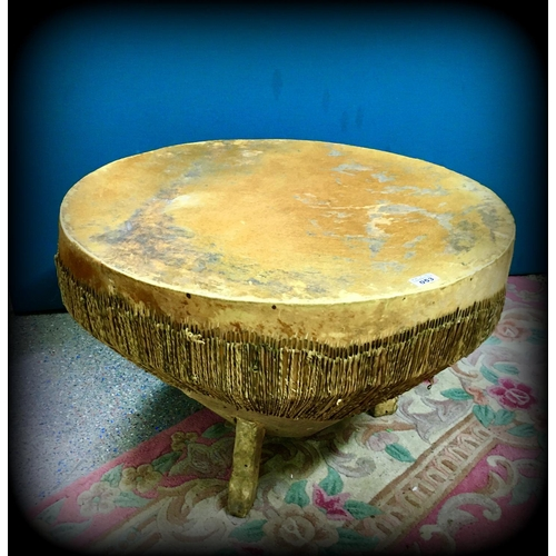 53 - Round Calf Skin Coffee table 75cm Diameter...