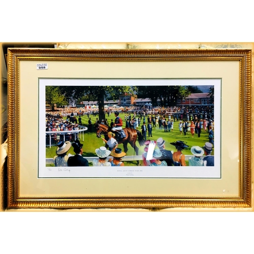 58 - Royal Ascot 2002 Peter Curling Print Limited Edition 86x56cm...