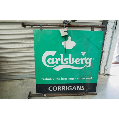 Double Sided Carlsberg Adv Sign 90x 90 cm