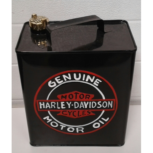 55 - A reproduction painted tin Harley Davidson petrol can ....