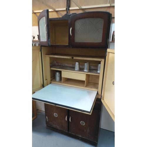 A Circa 1930 Art Deco Era Shefco Kitchen Cabinet