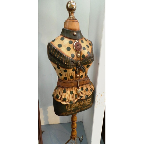 An Antique Style Mannequin With Gleneagles Ladies Golf Advertising