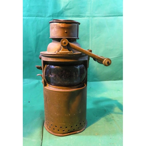 306 - ANTIQUE SHIPS SIGNAL LAMP - ATTRIBUTED TO THE RMS OLYMPIC - THE TITANIC'S SISTER SHIP...