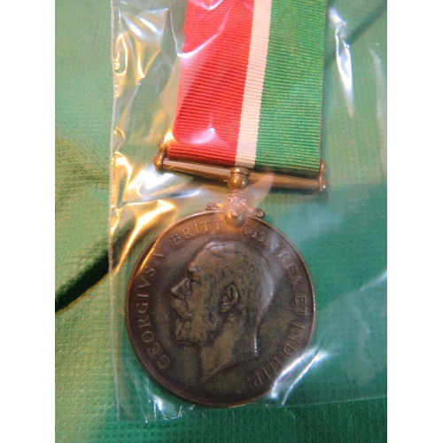 479 - A WWI ERA -BRITISH MILITARY ISSUE - MERCANTILE MARINE MEDAL - AWARDED TO BURLING...