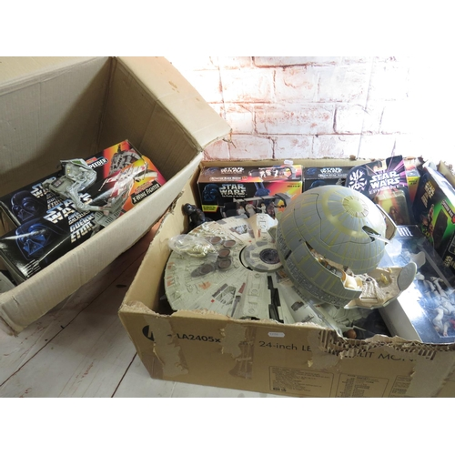 109 - A COLLECTION OF STAR WARS ACTION FIGURES AND VEHICLES...