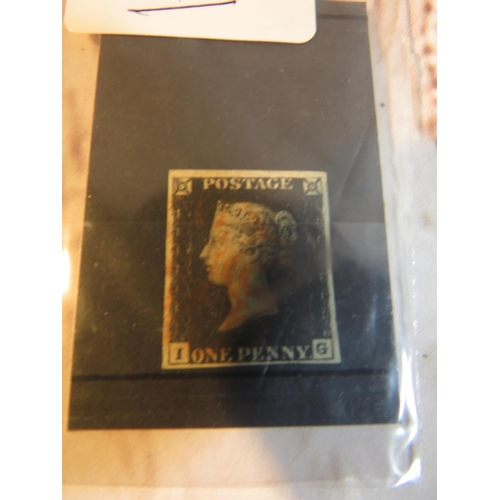 231 - ANTIQUE PENNY BLACK STAMP - PLATE NUMBER 1A - VERY FINE USED - WITH FOUR MARGINS - CATALOGUE VALUE £...