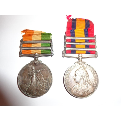 7 - Queens South Africa and Kings South Africa Medals - named to 5500 Private J. King - of the Glouceste...
