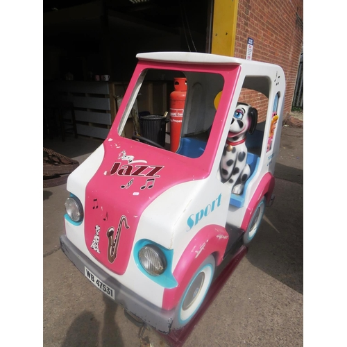 61 - A COIN OPERATED - 'SPOT THE DOG' CAR -  CHILDREN'S ARCADE RIDE...