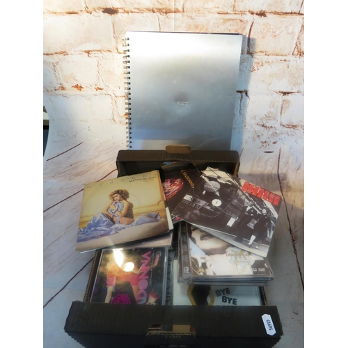 687 - A SELECTION OF MADONNA RELATED ITEMS INCLUDING - CD'S, VIDEOS AND EROTICA BOOK...