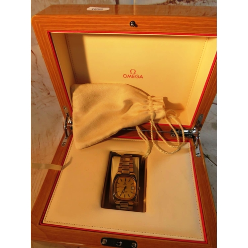 369 - A QUALITY VINTAGE - GENTLEMAN'S 'OMEGA SEAMASTER' WRIST WATCH - WITH ASSOCIATED OMEGA BRANDED BOX - ...