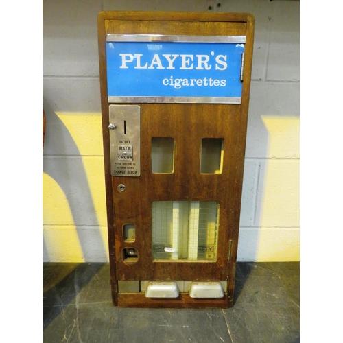 251 - A MID TWENTIETH CENTURY VINTAGE - 'PLAYERS' BRANDED CIGARETTE MACHINE...