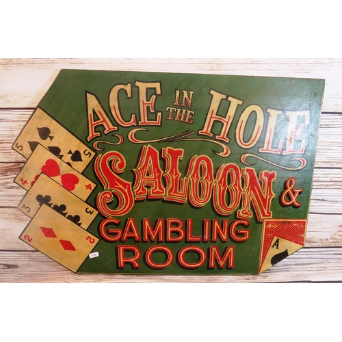 258 - ANTIQUE STYLE - GAMBLING SIGN...