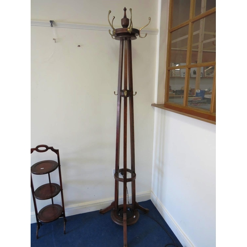 38 - ANTIQUE EDWARDIAN HALL STAND...
