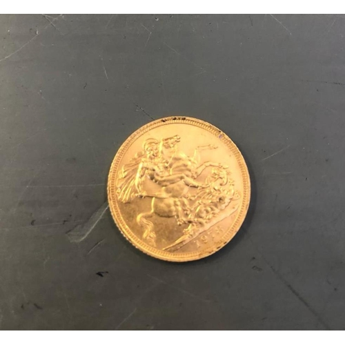 300A - A GOLD SOVEREIGN COIN - DATED 1978...