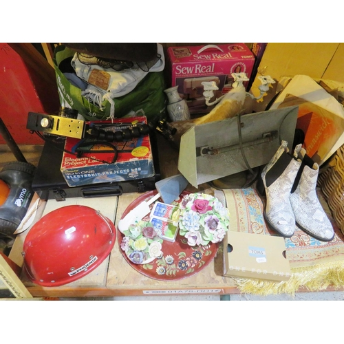 11 - A SHELF LOT - CONTAINING MIXED ITEMS...