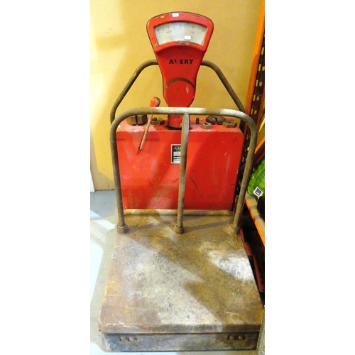 15 - A SET OF - INDUSTRIAL AVERY SCALES...