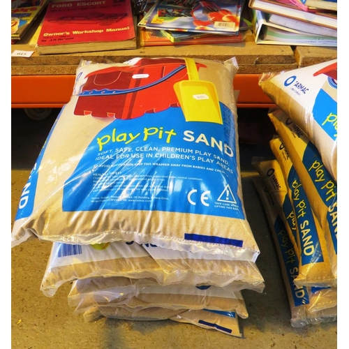 30 - FIVE BAGS OF PLAYPIT SAND - AS NEW...