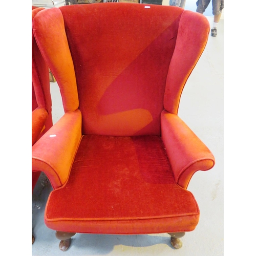 43 - A PARKER KNOLL - HIGHBACKED CHAIR...