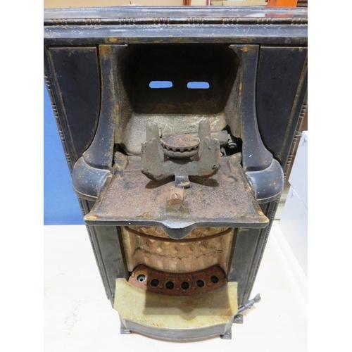 49 - A VINTAGE CAST IRON - GAS FIRE/STOVE...