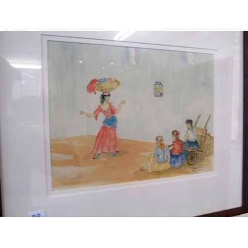 54 - A WATERCOLOUR TITLED - AFTER W.R.F - BY GORDON HURLEY...