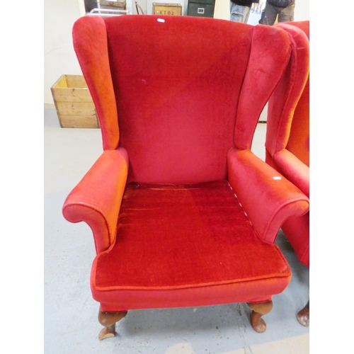57 - A PARKER KNOLL - HIGHBACKED CHAIR...