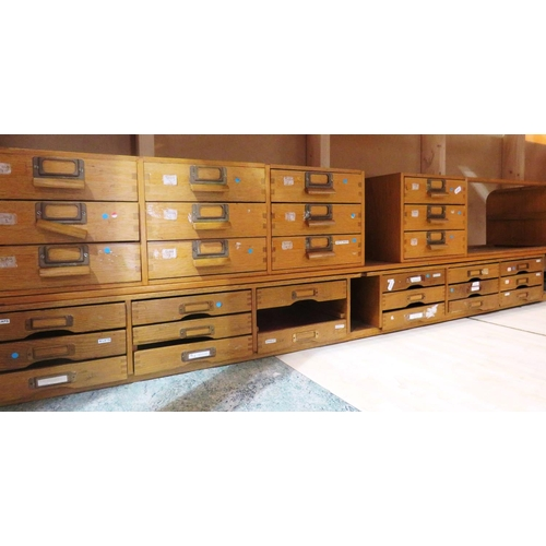 11 - A SET OF DOVETAIL JOINTED - VINTAGE STORAGE/DOCUMENT DRAWERS...
