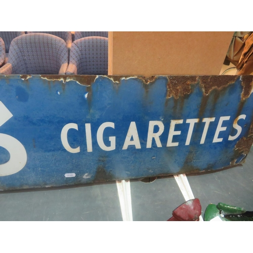 511 - A LARGE - EARLY VINTAGE ENAMELLED SIGN - PLAYERS NO 3 CIGARETTES...