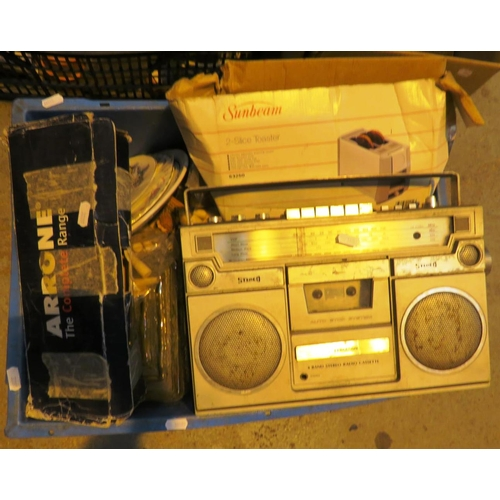 3 - MIXED ITEMS INCLUDING - PORTABLE STEREO...