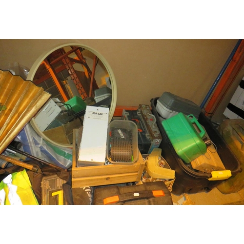 7 - A SHELF LOT - INCLUDING TOOLS AND TOYS...
