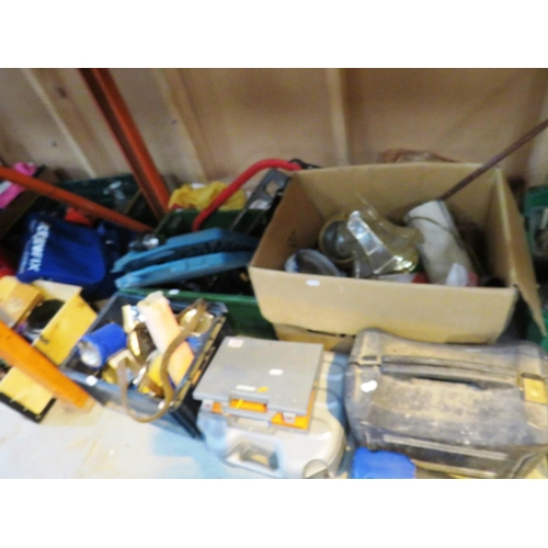 8 - A SHELF LOT - CONTAINING MIXED TOOLS AND FIXINGS...