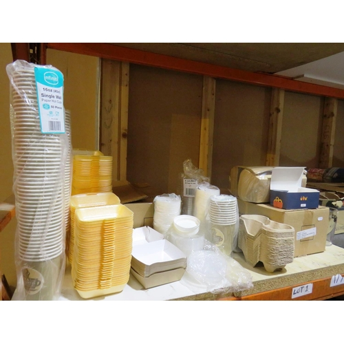 14 - A SHELF LOT - CONTAINING CATERING EQUIPMENT...