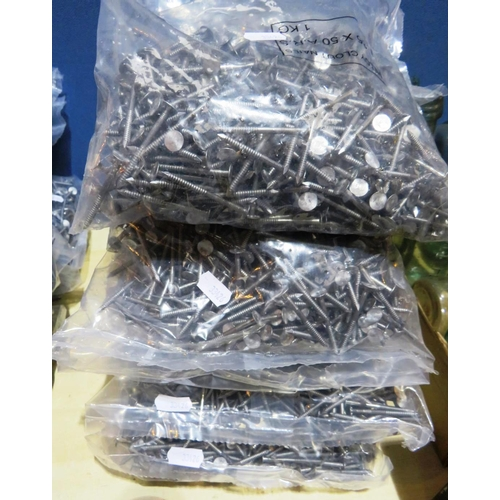 16 - FIVE BAGS OF - ALLOY ROOF NAILS...