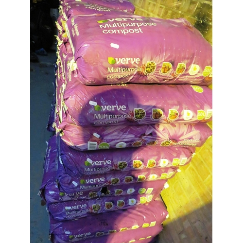 31 - FIVE BAGS OF 'VERVE' - 50 LITRE MULTI PURPOSE COMPOST - AS NEW...