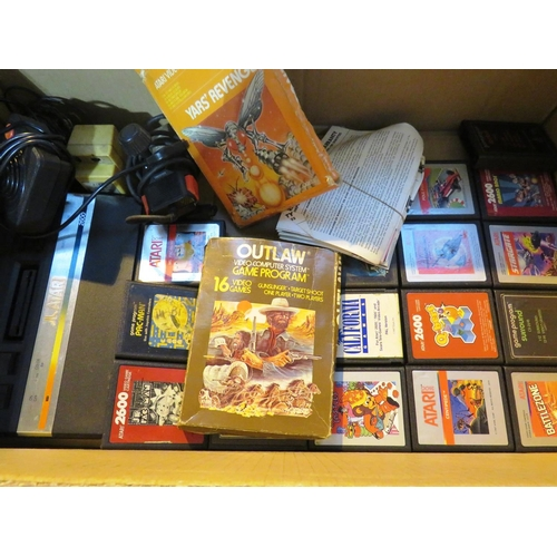 264 - ATARI 2600 - JOYPAD AND GAMES - UNTESTED...