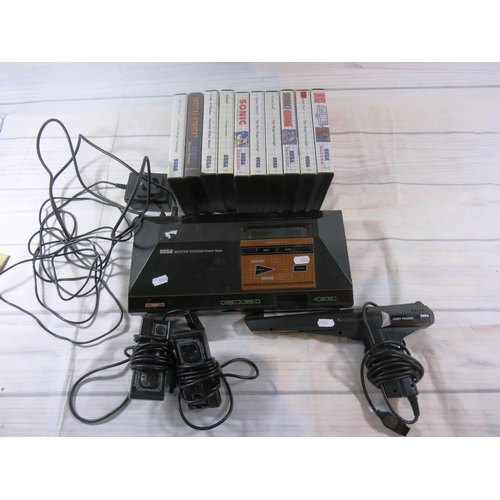 451 - SEGA MASTER SYSTEM - WITH TWELVE BOXED GAMES - UNCHECKED...