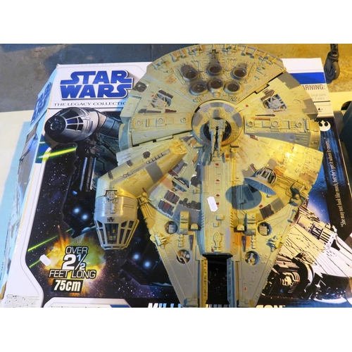 142 - TWO STAR WARS - MILLENIUM FALCONS...