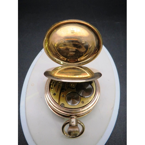 432 - ANTIQUE 9CT GOLD CASED - POCKET WATCH -  J. W BENSON LTD LONDON - IN ORIGINAL CASE...