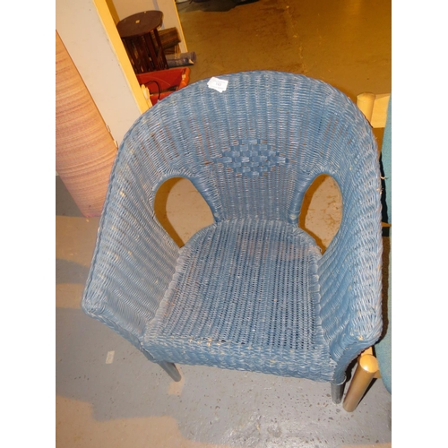 143 - WICKER CHAIR...