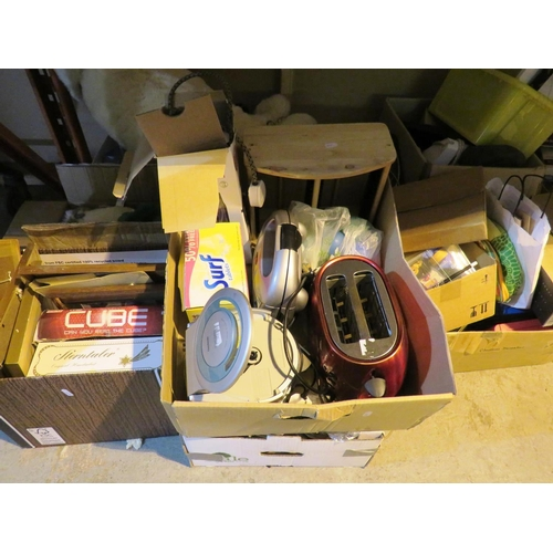 3 - SHELF LOT OF MIXED ITEMS - INCLUDING ELECTRICALS...
