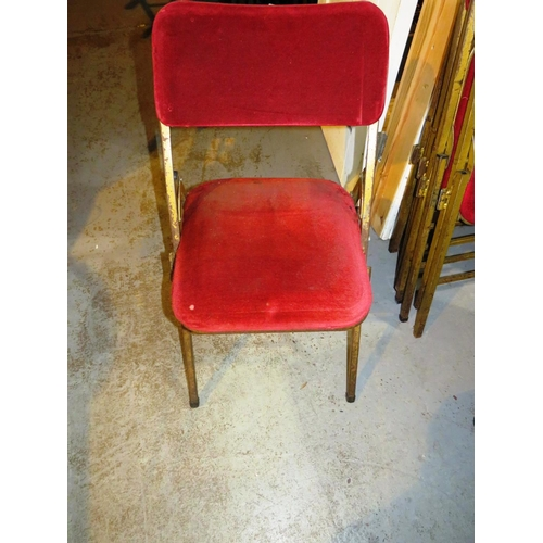 16 - TEN FOLDING - THEATRE STYLE CHAIRS...