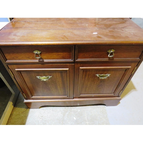 18 - SOLID WOOD CABINET...