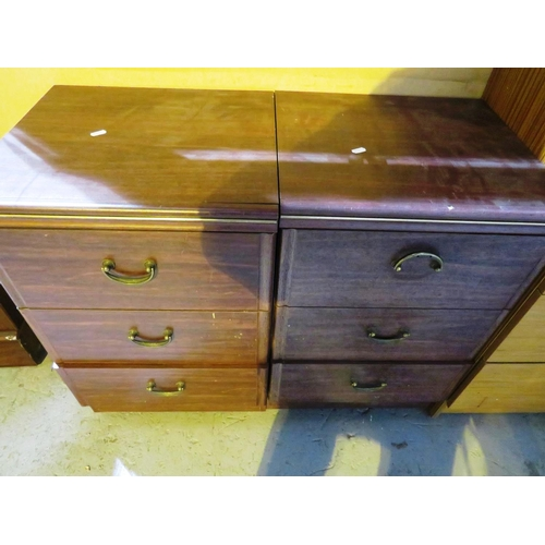 22 - A PAIR OF - BEDSIDE DRAWERS...