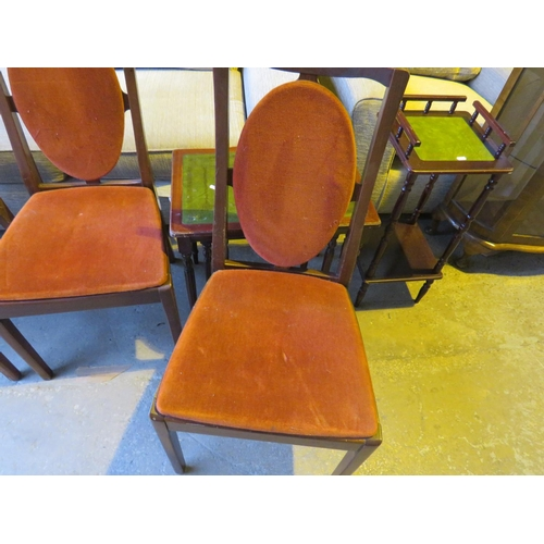 27 - MIXED FURNITURE INCLUDING - FOUR NATHAN CHAIRS, SIDE TABLE AND NEST OF TABLES...
