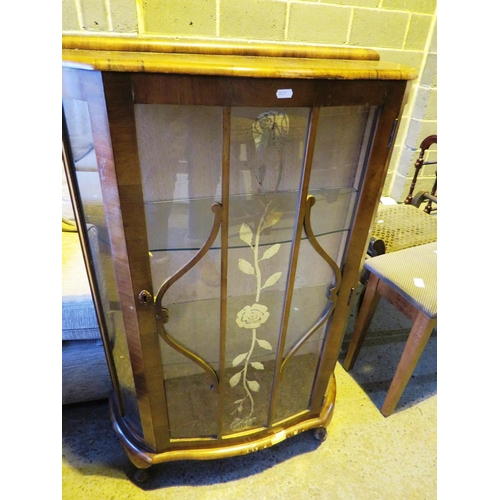 30 - GLASS FRONTED CABINET...