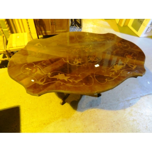40 - INLAID ITALIAN STYLE - DINING TABLE...